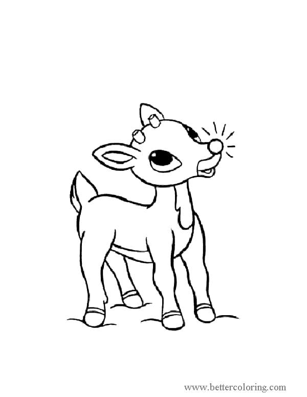 Free Deer from Elf On The Shelf Coloring Pages printable