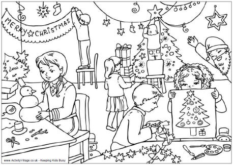 Free Detailed Christmas Kids Coloring Pages printable