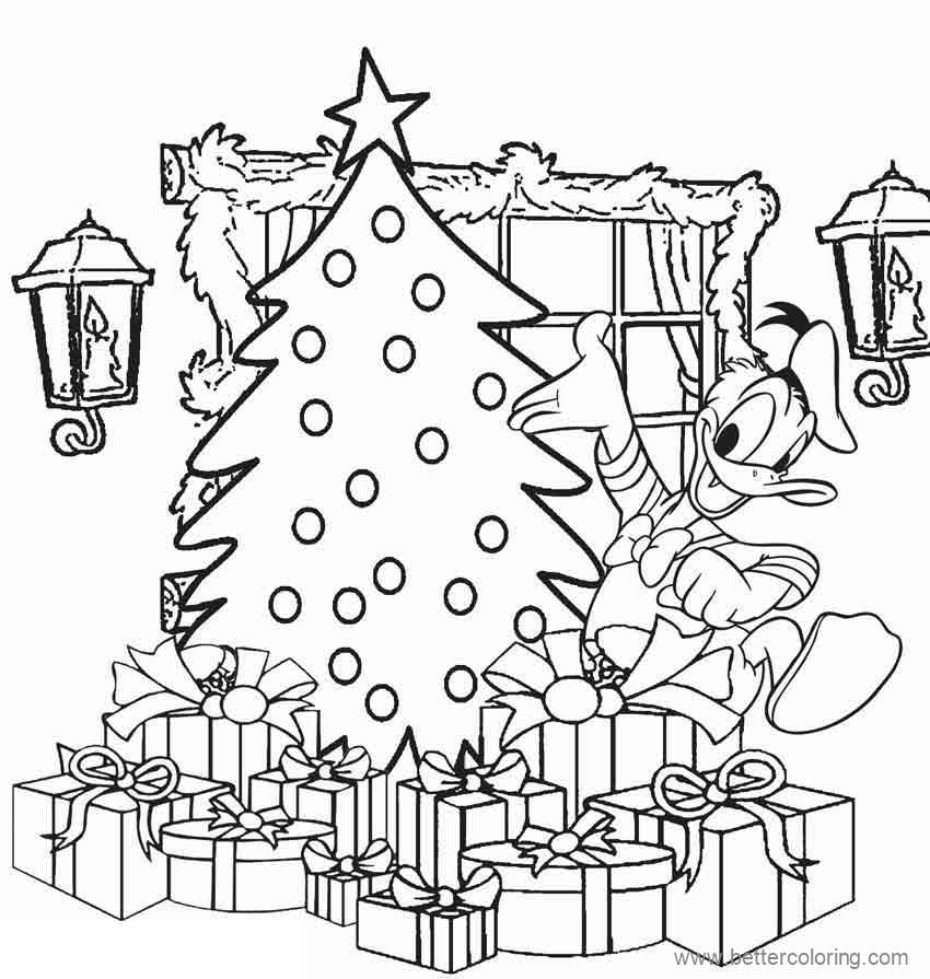 Free Detailed Disney Christmas Coloring Pages printable