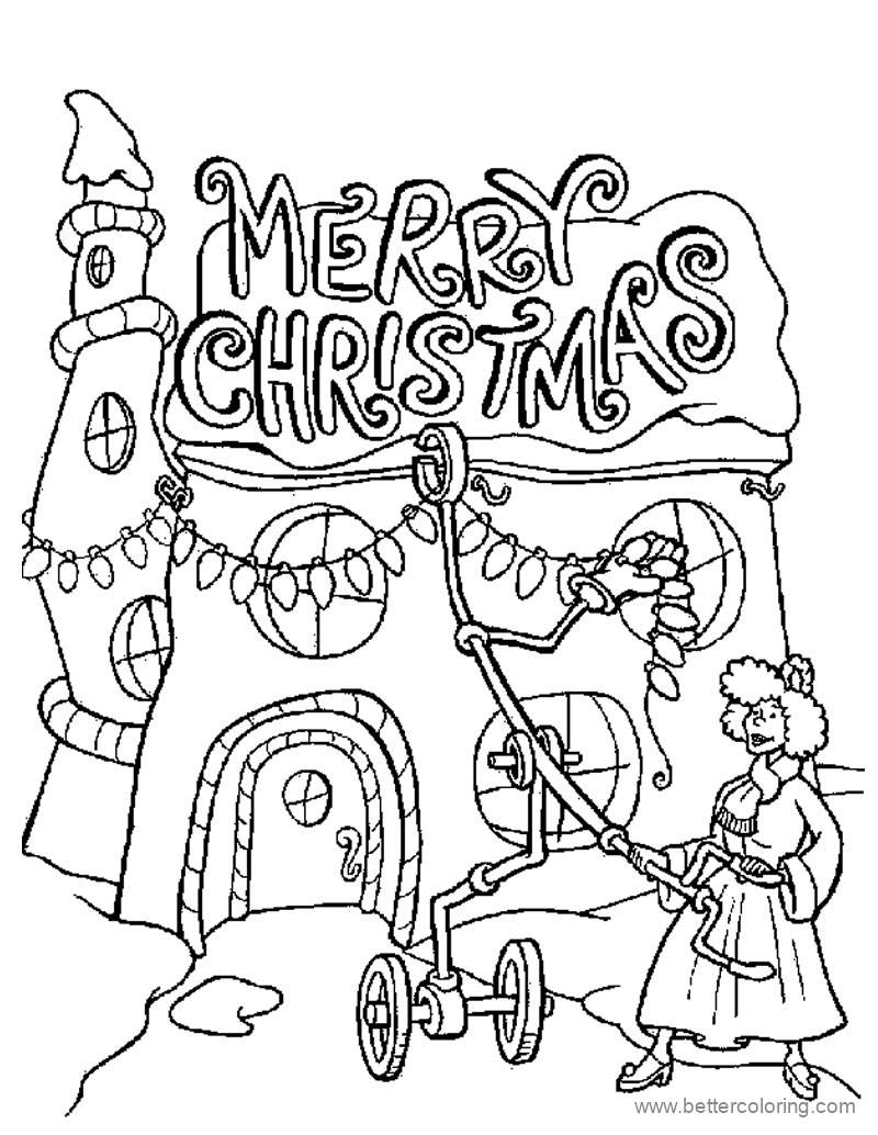 Free Detailed Merry Christmas Coloring Pages printable