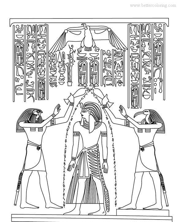 Free Egyptian Art Coloring Pages printable