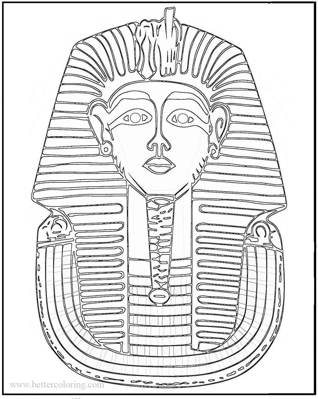 Free Egyptian Mask Coloring Pages printable
