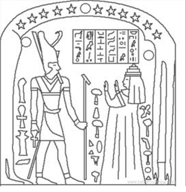 Free Egyptian Paintings Coloring Pages printable