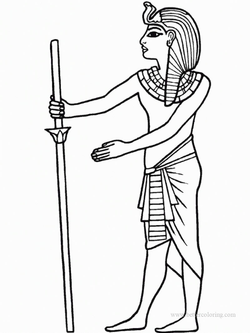 Free Egyptian Queen Coloring Pages printable