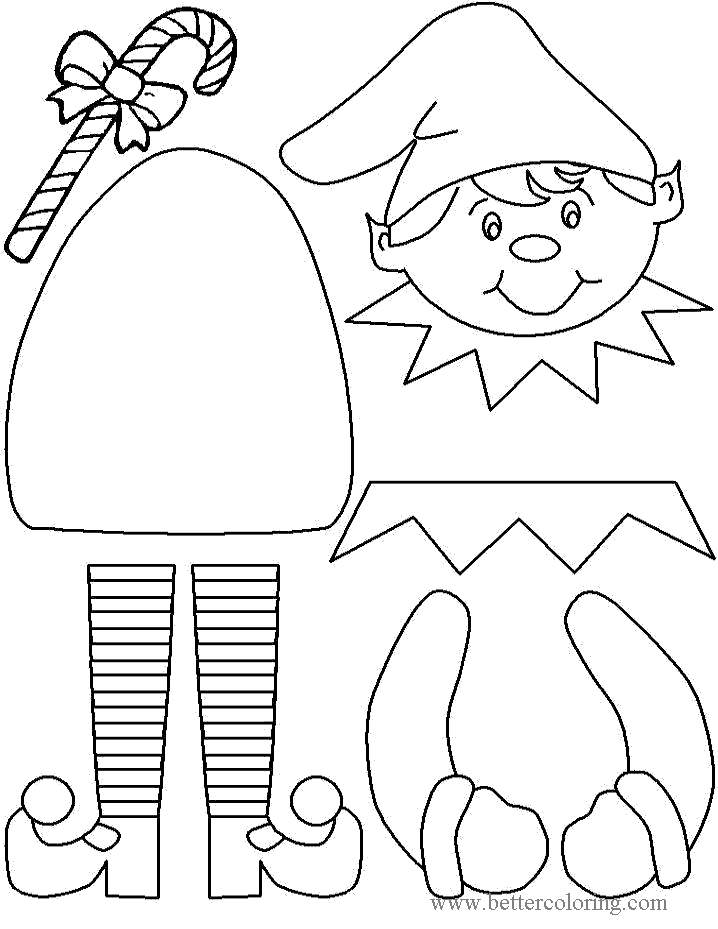 Free Elf On The Shelf Coloring Pages and Paper Craft printable