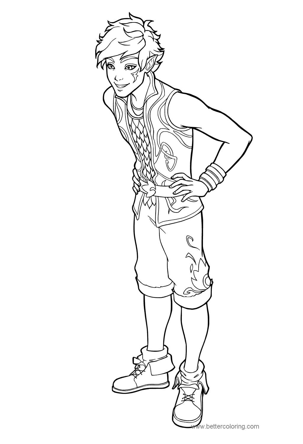 Free Elves Farran Leafshade Coloring Pages printable