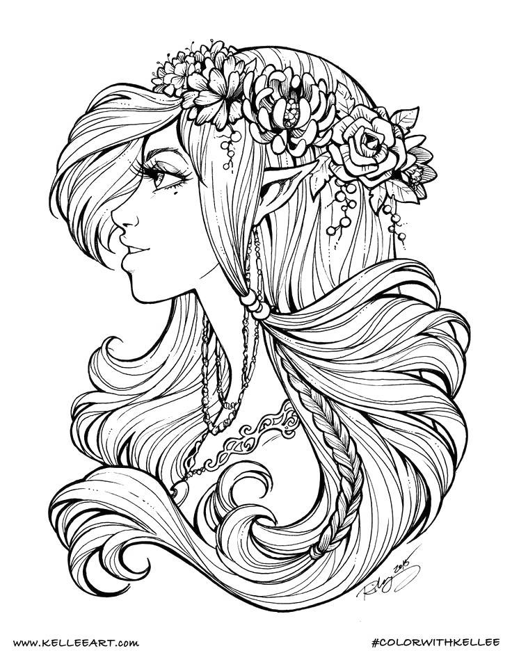 Free Evles Coloring Pages Fanart printable