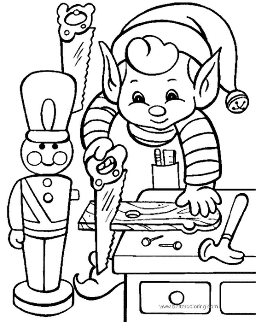 Free Evles Is Working Coloring Pages printable