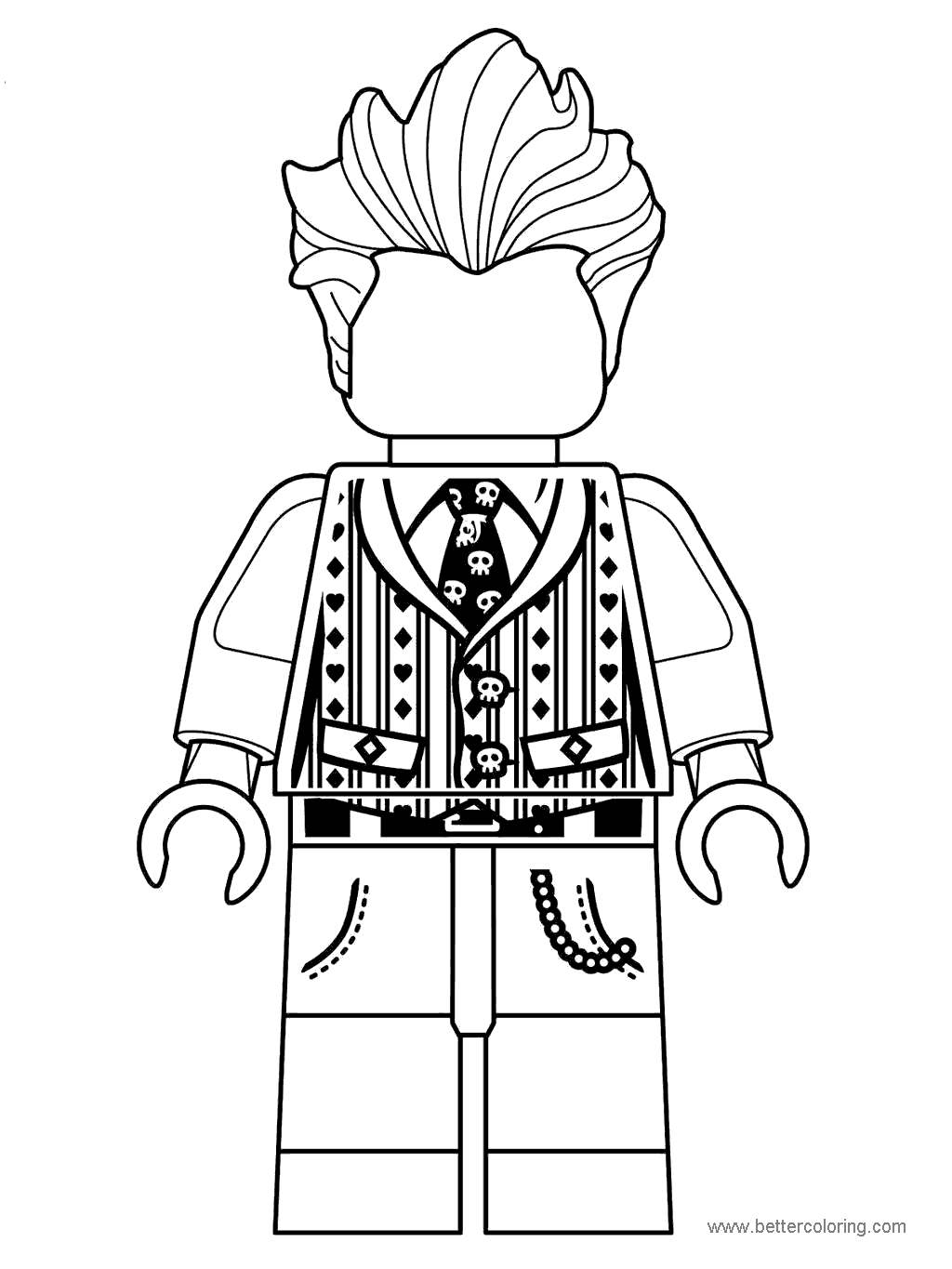 Free Lego Movie Character Coloring Pages printable