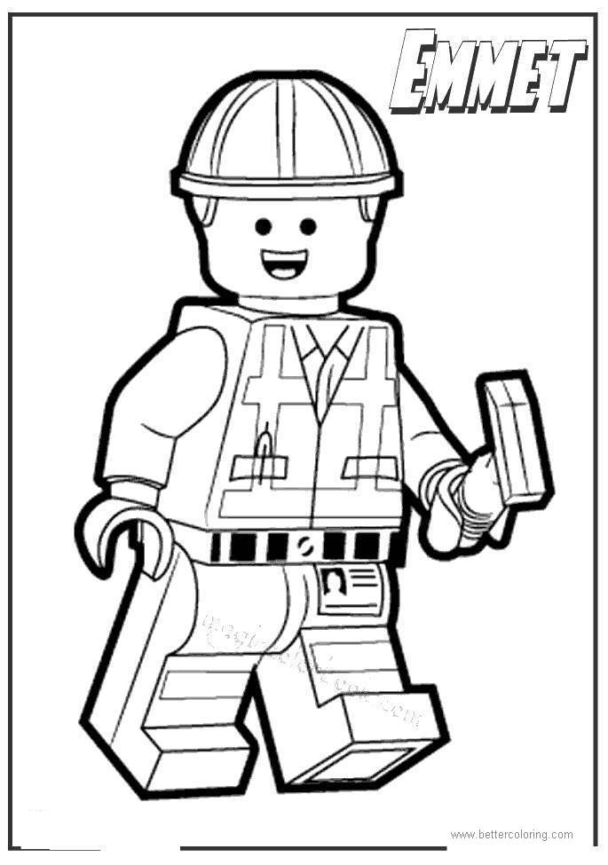 Free Lego Movie Emmet Coloring Pages printable