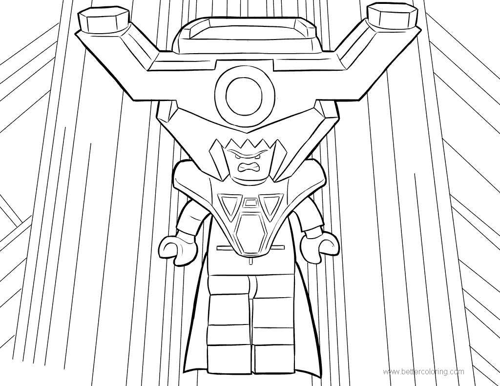 Free Lego Movie President Business Coloring Pages printable