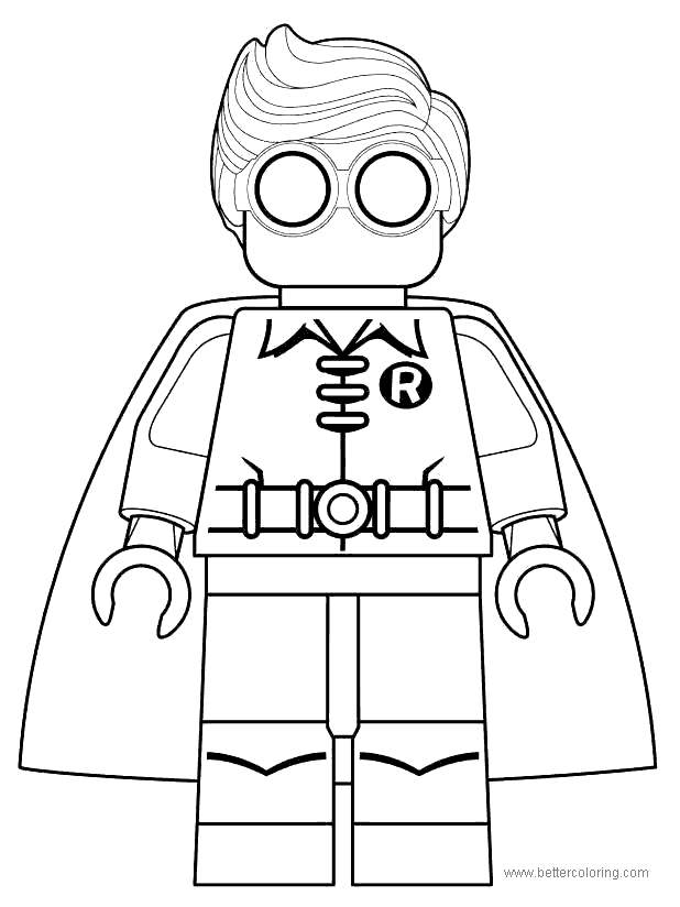 Free Lego Movie Robin Coloring Pages printable