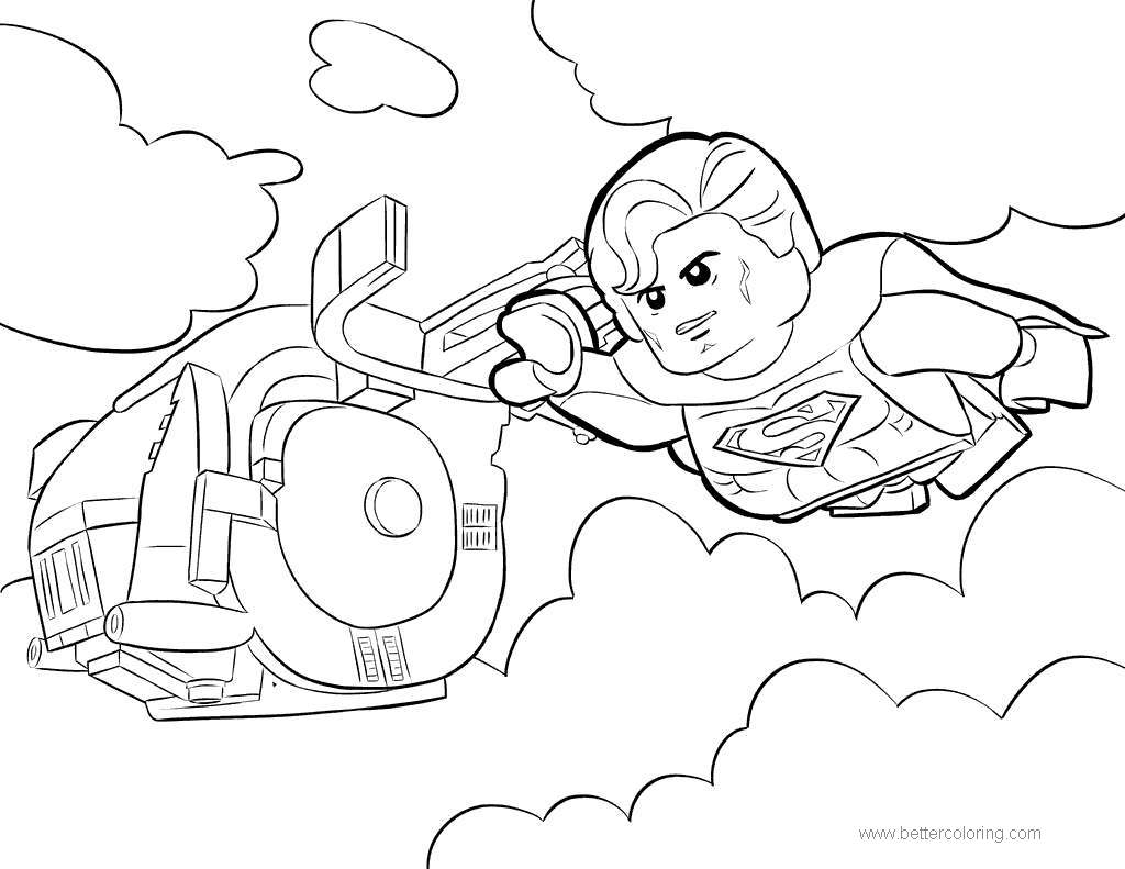 Free Lego Movie Superman Coloring Pages printable