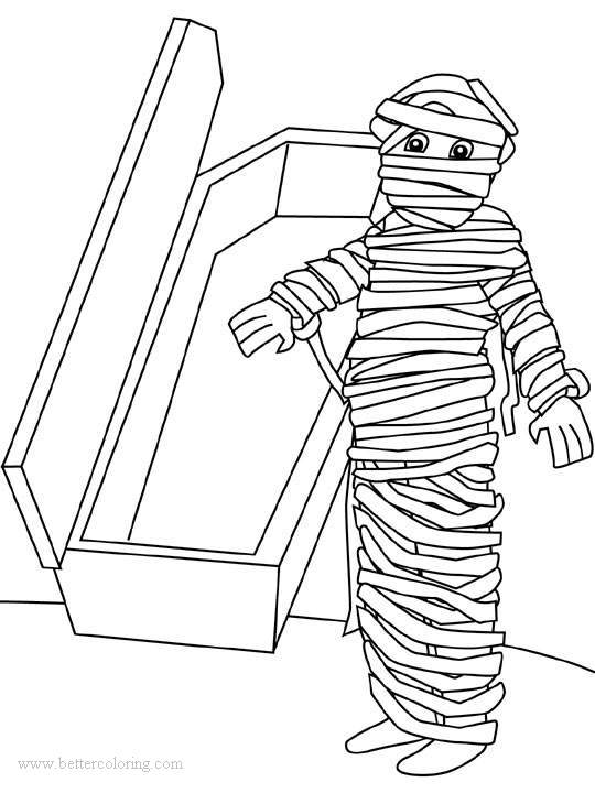 Free Mummy from Egyptian Coloring Pages printable