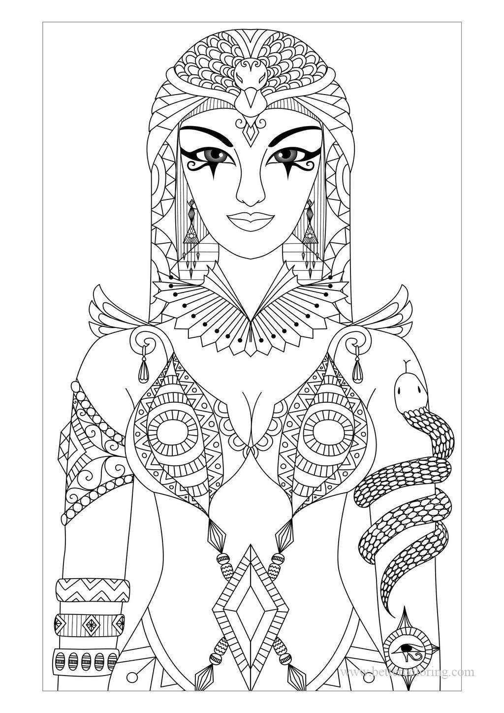 Free Printable Egyptian Queen Coloring Pages printable