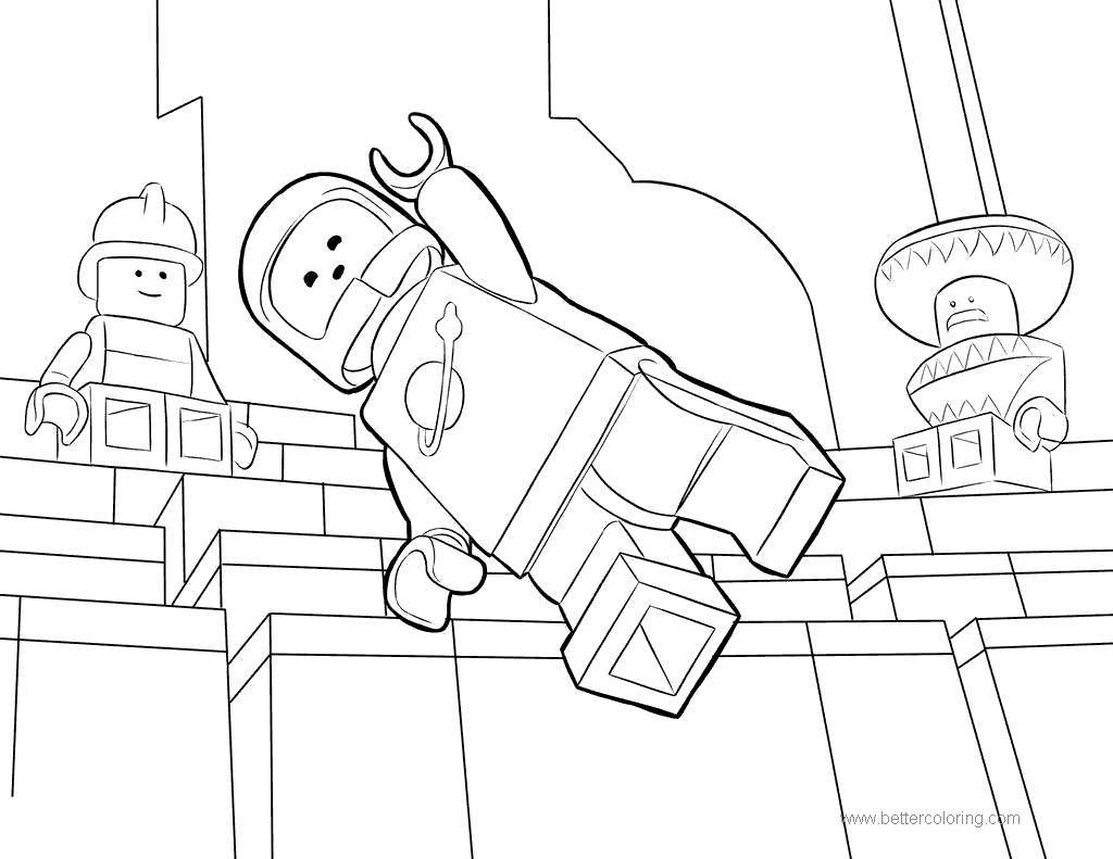 Free Spaceman Benny from Lego Movie Coloring Pages printable