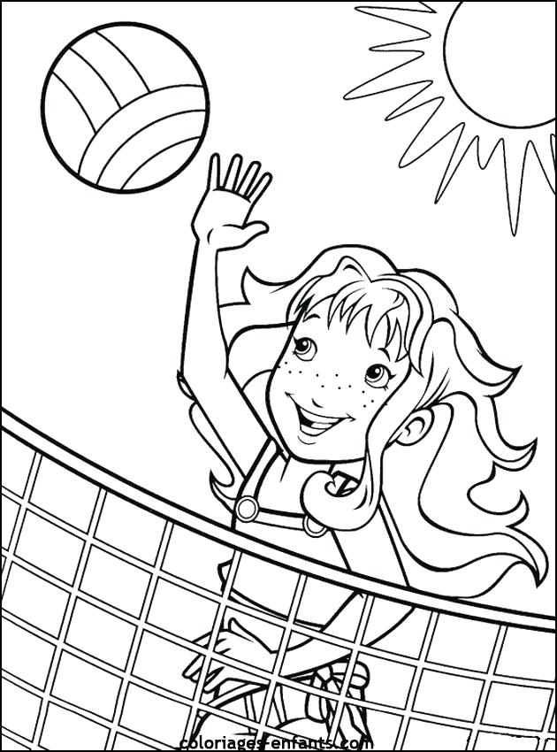 Free VSCO Girl Playing Volleyball Coloring Pages printable