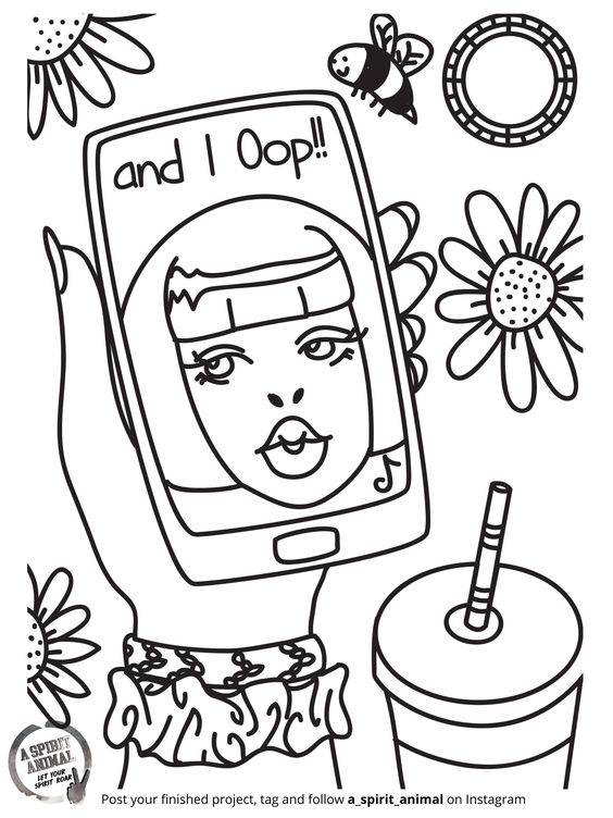 Free VSCO Phone Coloring Pages printable