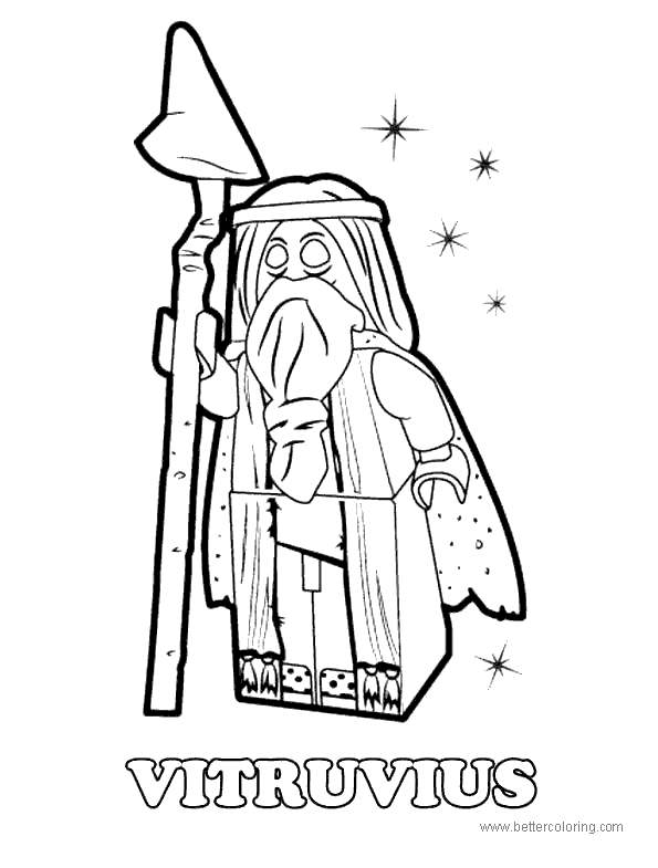 Free Vitruvius from Lego Movie Coloring Pages printable