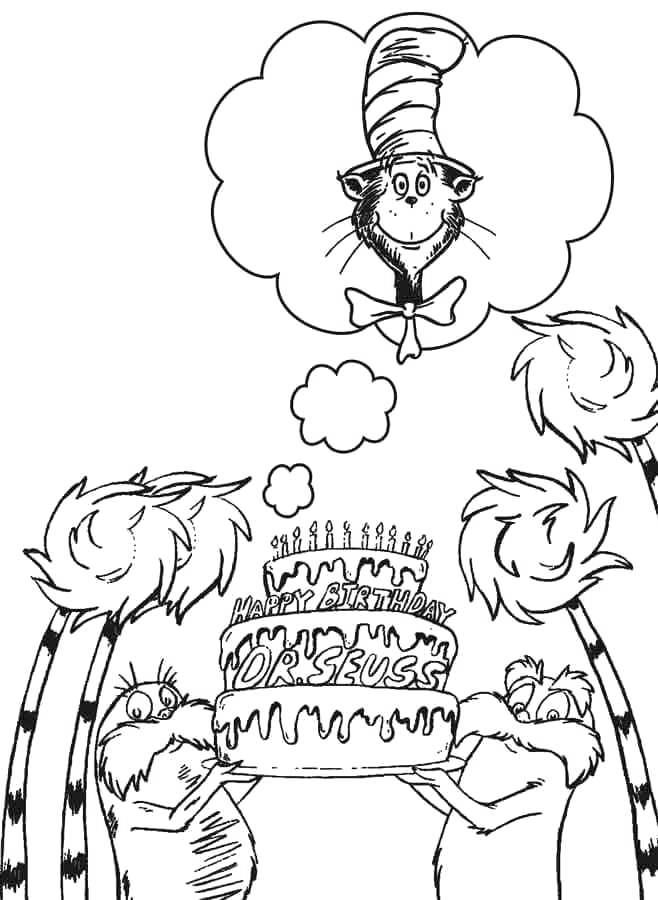 Free Whoville Coloring Pages Happy Birthday printable
