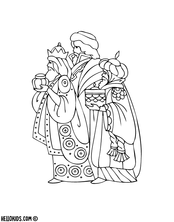 Free Catholic Epiphany Coloring Pages printable