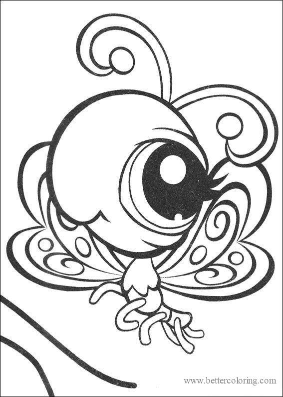 Free Draw So Cute Butterfly Coloring Pages printable