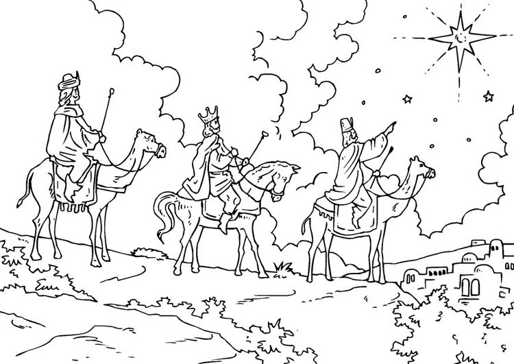 Free Epiphany and Star Coloring Pages printable