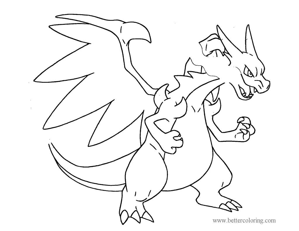 Free Evolution Mega Pokemon Coloring Pages  printable