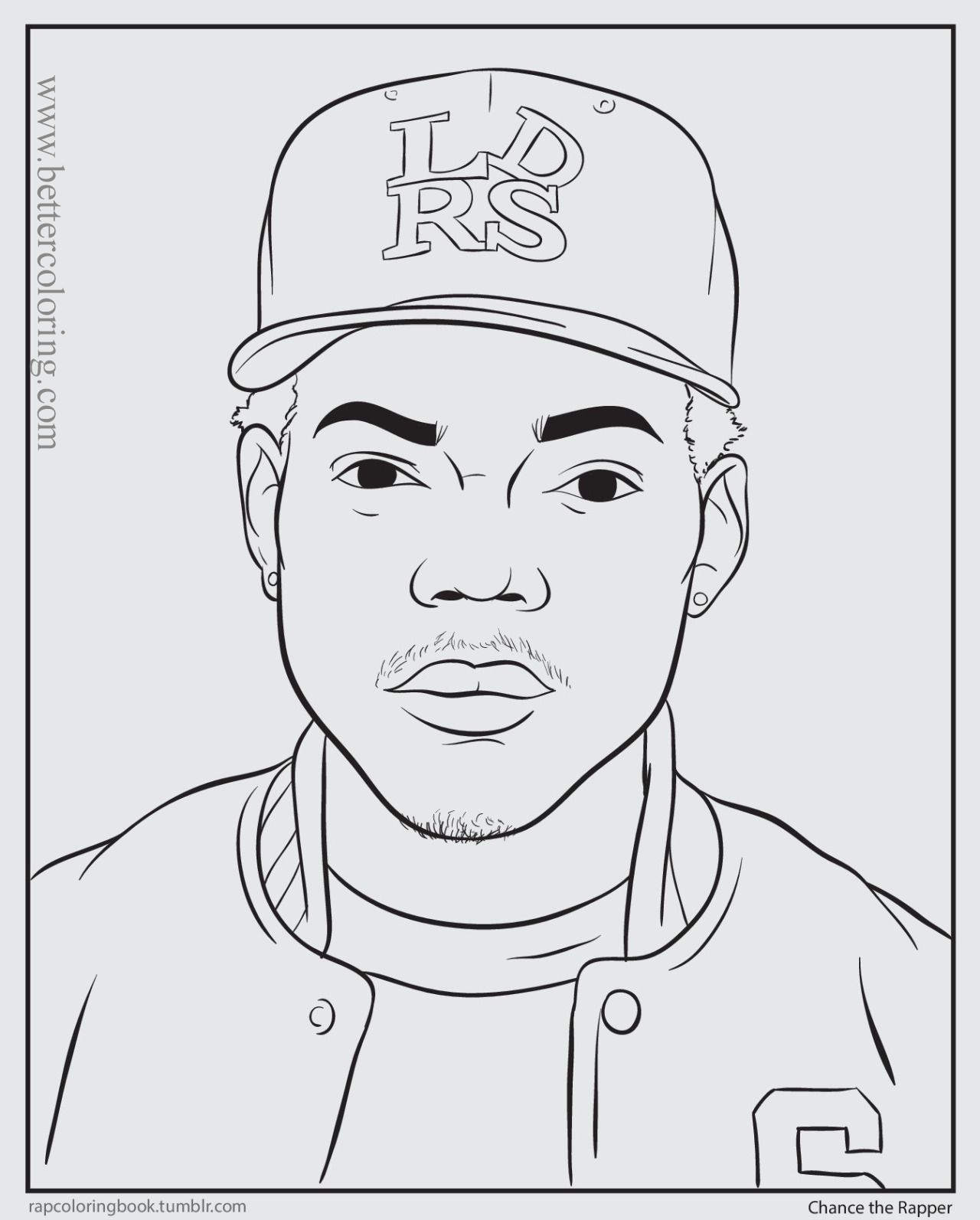 Gangsta Rapper Coloring Pages - Free Printable Coloring Pages