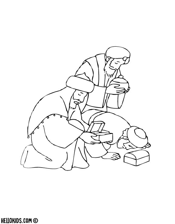 Free Gentiles Epiphany Coloring Pages printable