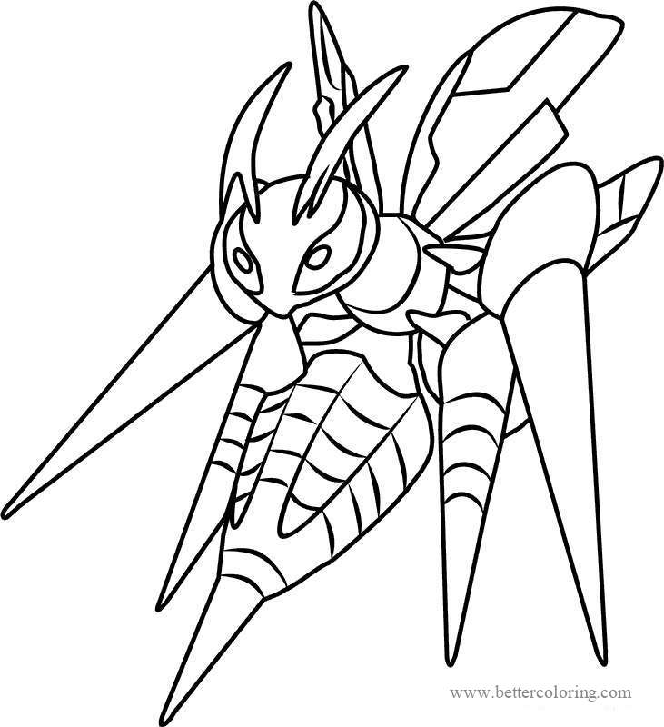 Free Great Mega Pokemon Coloring Pages printable