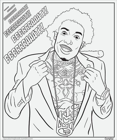 Gunplay Rapper Coloring Pages - Free Printable Coloring Pages