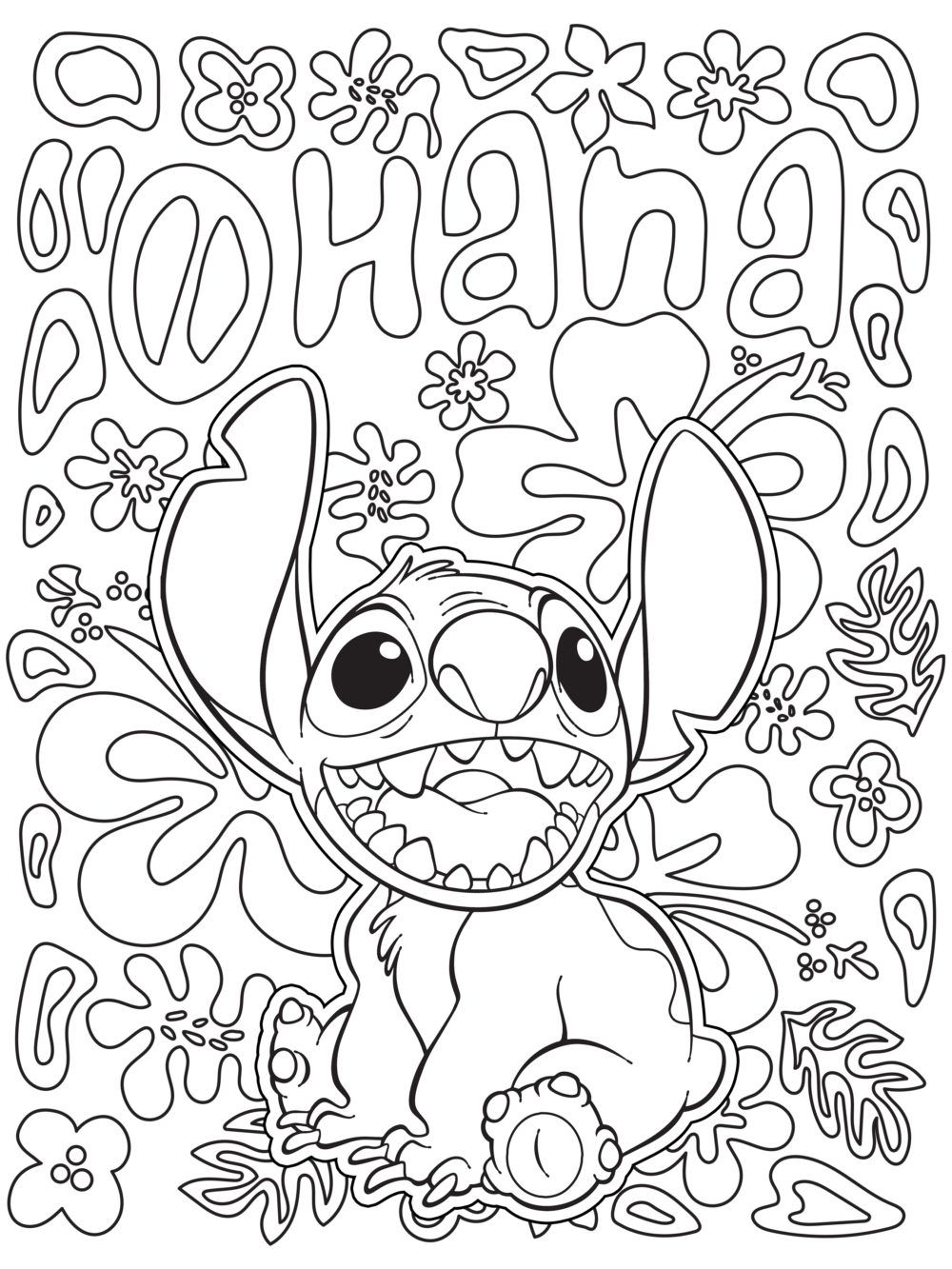 Free Hana for Sharpie Coloring Pages printable