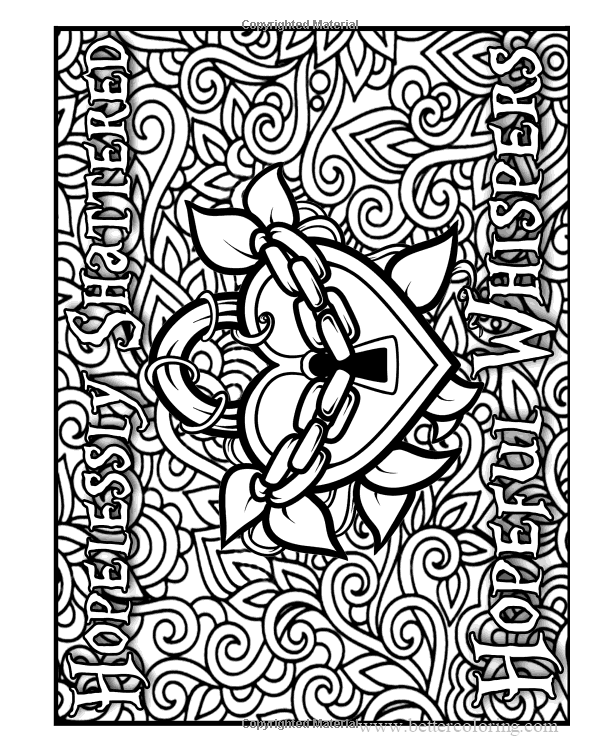 Free Heart Lock for Sharpie Coloring Pages printable