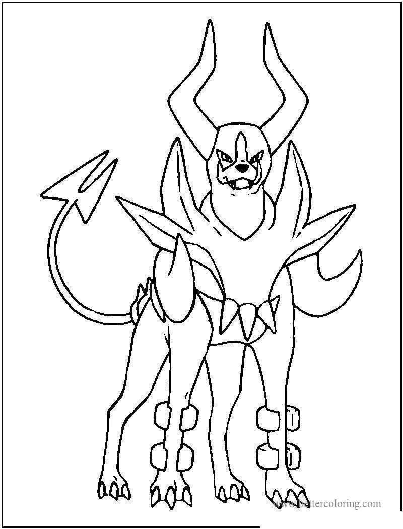 Free Karen Houndoom from Mega Pokemon Coloring Pages printable