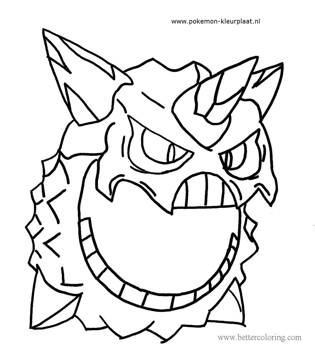 Free Mega Glalie Pokemon Coloring Pages printable