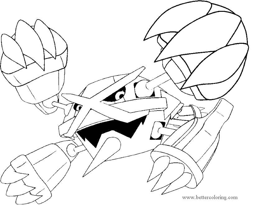 Free Mega Pokemon Evolution Coloring Pages printable