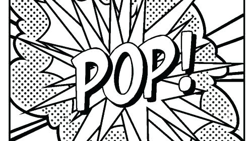 Free Pop Sharpie Coloring Pages printable