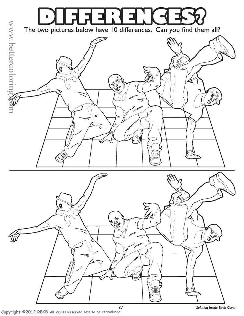 Free Rapper Coloring Pages Differences Worksheets printable