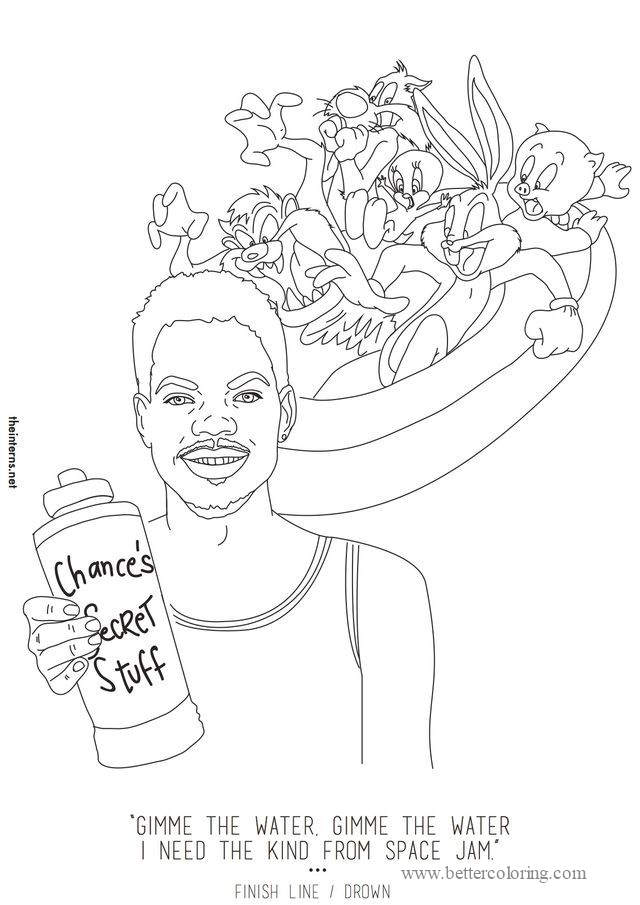 Rapper and Cartoon Characters Coloring Pages - Free ...