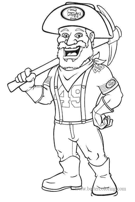 Free SF 49ers Coloring Pages printable