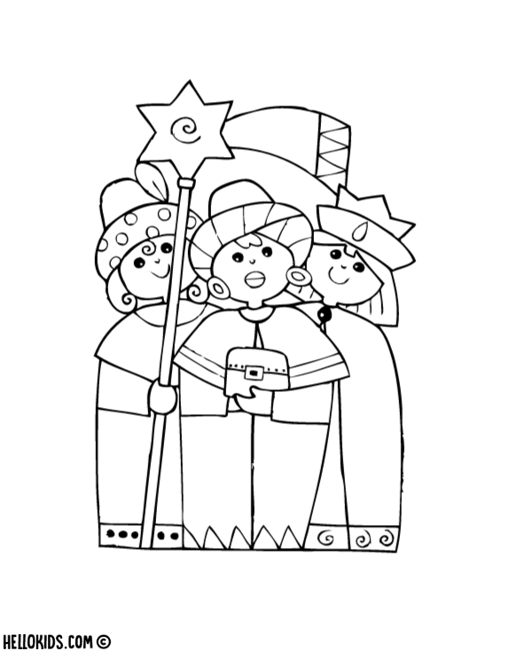 Free Three Kings Epiphany Coloring Pages printable