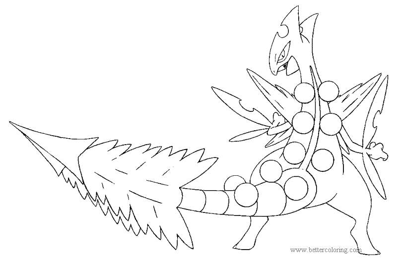 Free Treecko from Mega Pokemon Coloring Pages printable