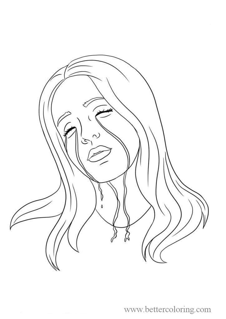Free Billie Eilish Coloring Pages for Fans printable