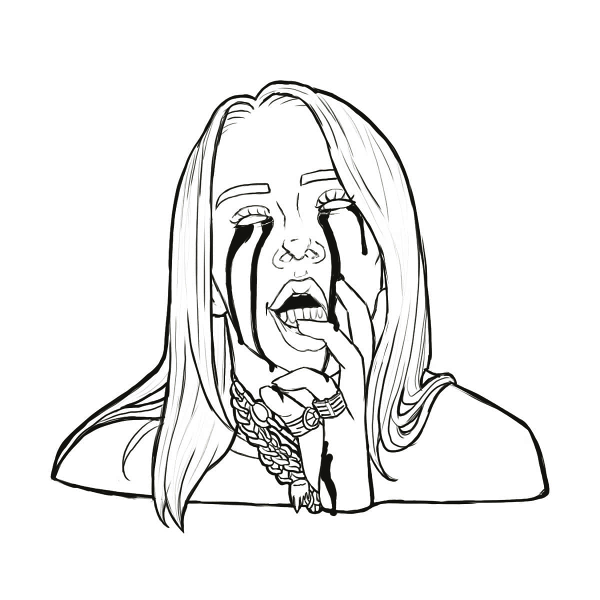 Free Billie Eilish Coloring Pages printable