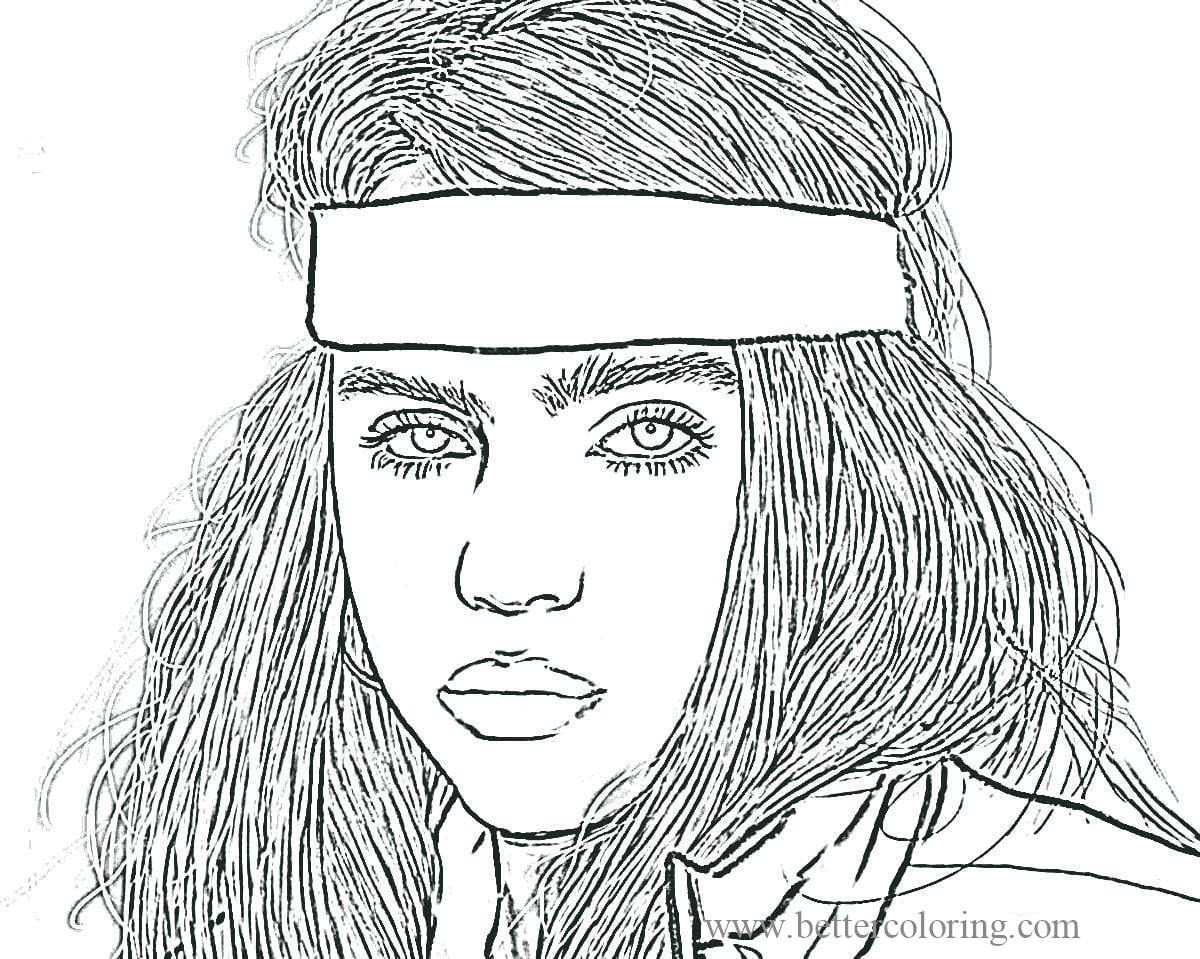 Free Cool Billie Eilish Coloring Pages printable