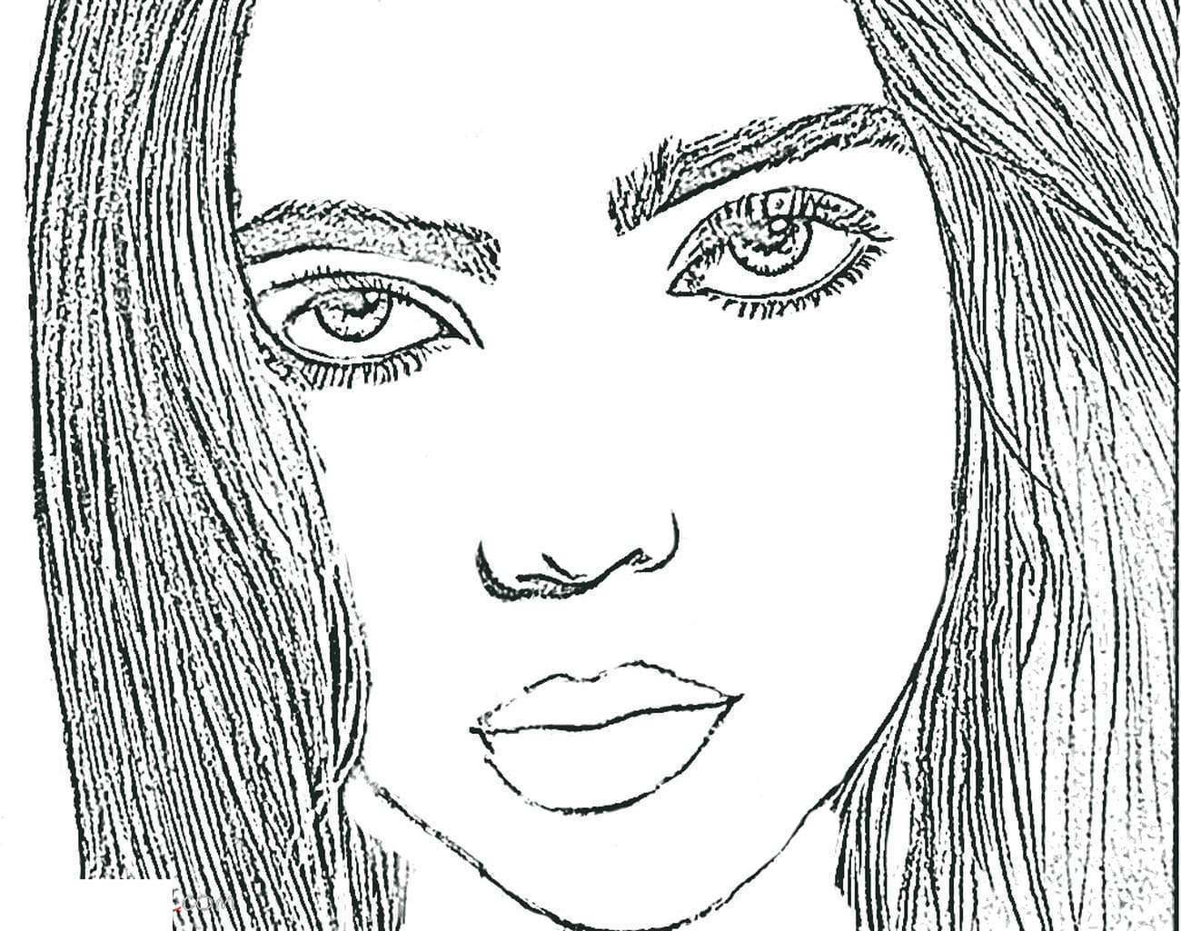 Free Fan Art of Billie Eilish Coloring Pages printable