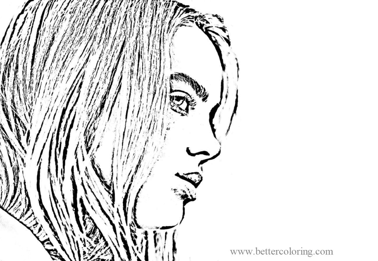 Free Raskrasil Billie Eilish Coloring Pages printable