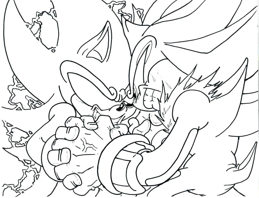 Free Shadow The Hedgehog Under Attack Coloring Pages printable