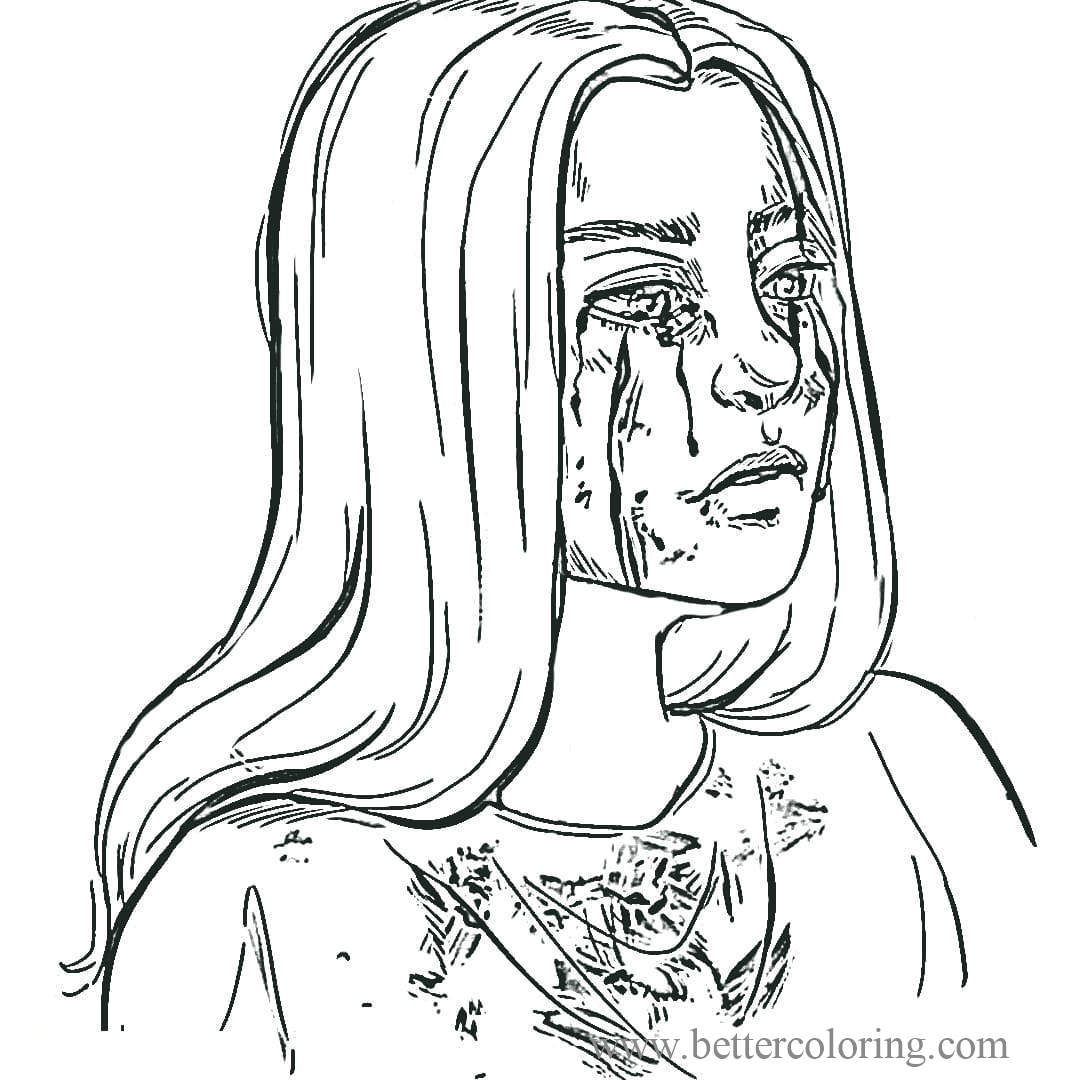 Free Singer Billie Eilish Coloring Pages printable